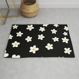 Daisies doodle pattern Rug