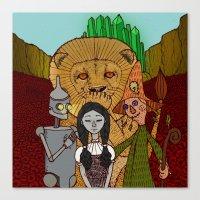 oz Canvas Prints featuring Oz by nu boniglio