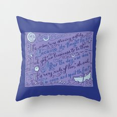 The Walrus and the Carpenter, Stanza 2 Throw Pillow