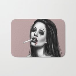 Grunge Angelina Jolie Bath Mat
