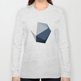 Minimal Geometric Polygon Art Long Sleeve T-shirt