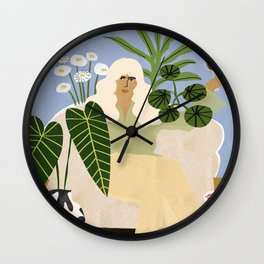Wine and Plants Wall Clock
