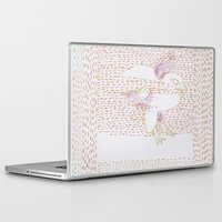 millenium falcon Laptop & iPad Skins featuring Falcon by Julia Walters Illustration
