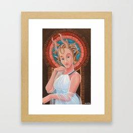 Faunesse a la Mucha Framed Art Print
