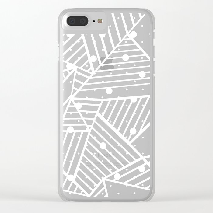 Abstraction Spots Close Up Black Clear iPhone Case