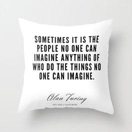 1    Alan Turing Quotes    190716   Throw Pillow