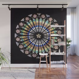 Stained glass cathedral rosette Wall Mural