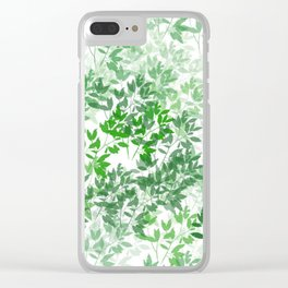 Inspirational Leafy Pattern Clear iPhone Case