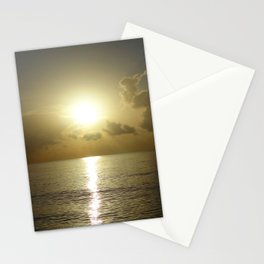 seaside sunrise Stationery Cards