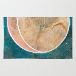 Pink Eco Print Moon Rug