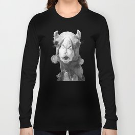 Black and White Camel Portrait Long Sleeve T-shirt