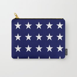 White on Blue Stars Carry-All Pouch