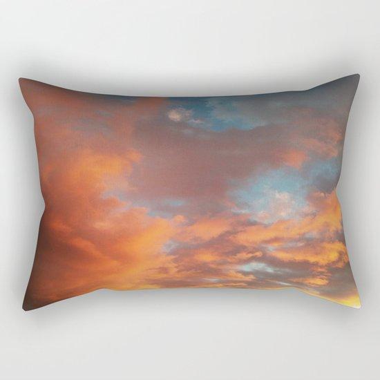 Clouds on Fire Rectangular Pillow