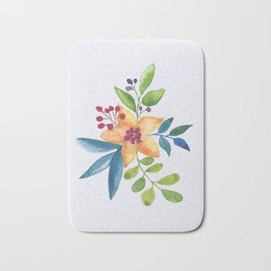 Flowers -a6 Bath Mat