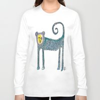 monkey Long Sleeve T-shirts featuring Monkey by Dawn Patel Art