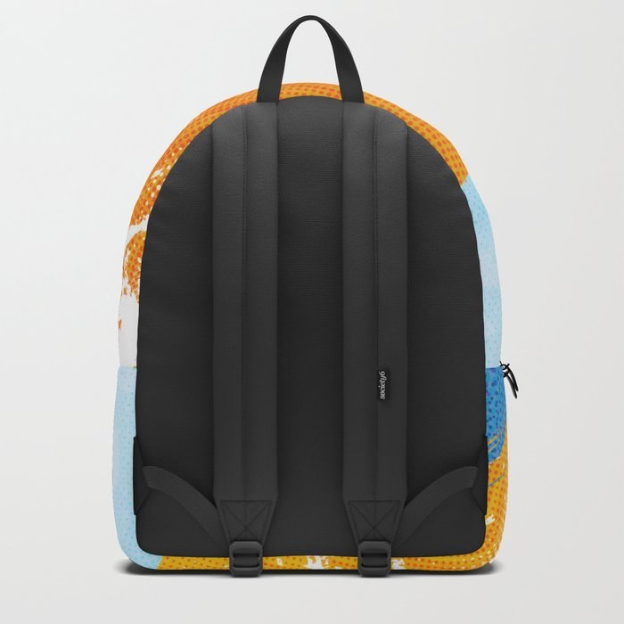 The sea absorbs the sun - Raster abstract Backpack