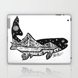 """Trout Dreams"" Hand Drawn Double Exposure Fishing Camping Art Laptop & iPad Skin"