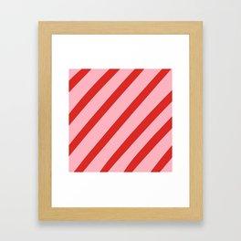 Reddy Stripes Framed Art Print