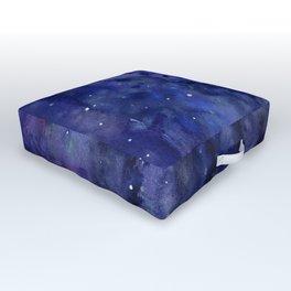 Night Sky Galaxy Nebula Stars Watercolor Space Texture Outdoor Floor Cushion