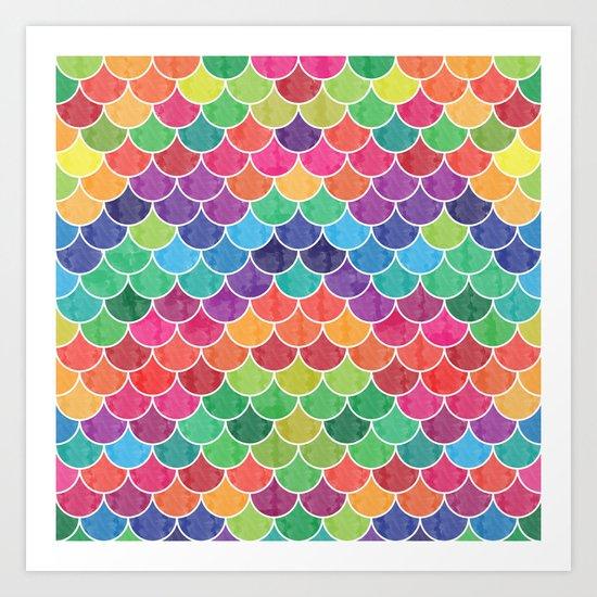 Watercolor Lovely Pattern VVXVI Art Print