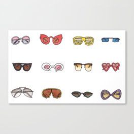 Retro sunglasses Canvas Print