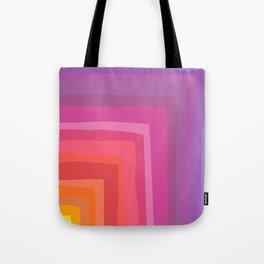 Vivid Vibrant Geometric Rainbow Tote Bag