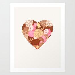 Corazón de Pan Dulce Art Print