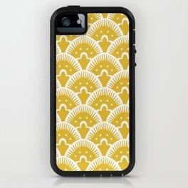 Fan Pattern Mustard Yellow 201 iPhone Case