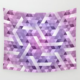 Puple Geo Dimension Wall Tapestry