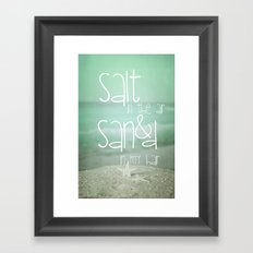 SALT &  SAND Framed Art Print