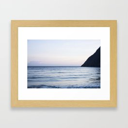 Calm beach Framed Art Print