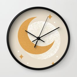 Moon Sparkle - Celestial Wall Clock