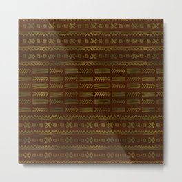 Ethnic Tribal Pattern Metal Print