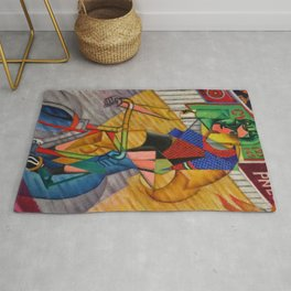 LE CYCLISTE (The Bicyclist) by Jean Metzinger Rug