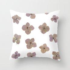 Pastel Hydrangea Throw Pillow