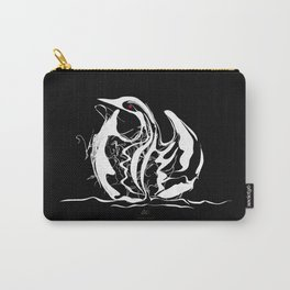 Swan 1. White on Black background-(Red eyes series) Carry-All Pouch