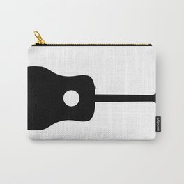 Acoustic Guitar Silhouette Carry-All Pouch