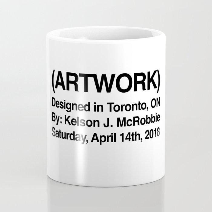 (ARTWORK) White Coffee Mug