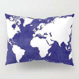 The world awaits in navy blue Pillow Sham