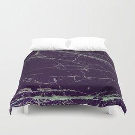 Purple Marble Crease Texture Design Duvet Cover