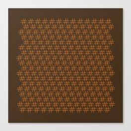 #Hashtag Pattern Canvas Print