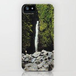 Sacred Falls Waterfall in Hawaii iPhone Case