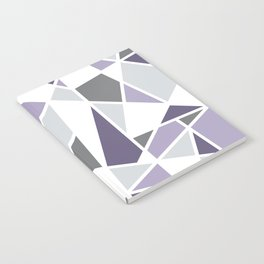 Geometric Pattern in purple and gray Notebook
