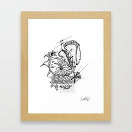 Whale Language Framed Art Print