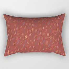 Abstract Orchard HashTag Compost-Red Rectangular Pillow