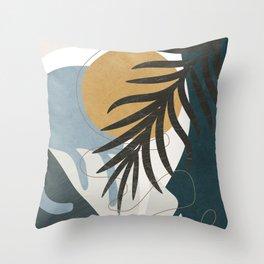 Abstract Tropical Art II Throw Pillow