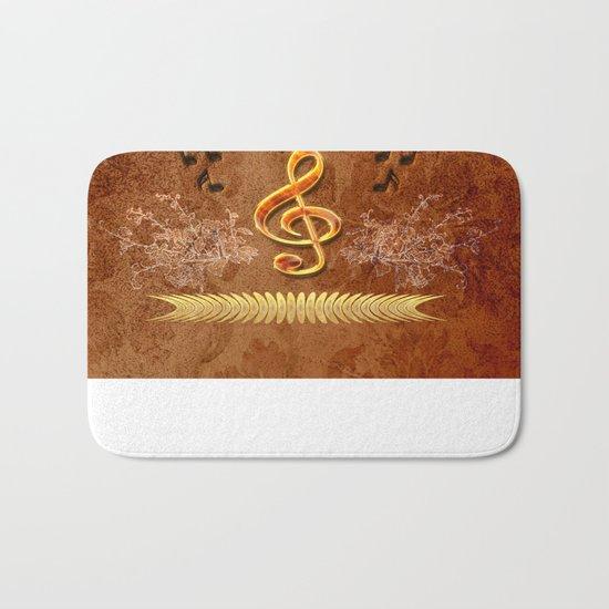 Music, clef Bath Mat