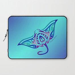 Tribal Manta Ray Laptop Sleeve