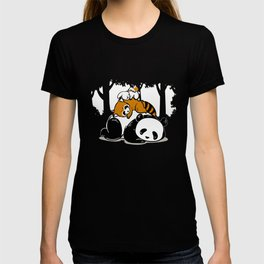 Panda Koala bear sleeping hare lazy couch Gift T-shirt
