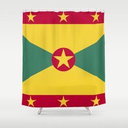 Greenada flag emblem Shower Curtain